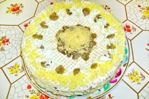 Вафельный торт из овощей